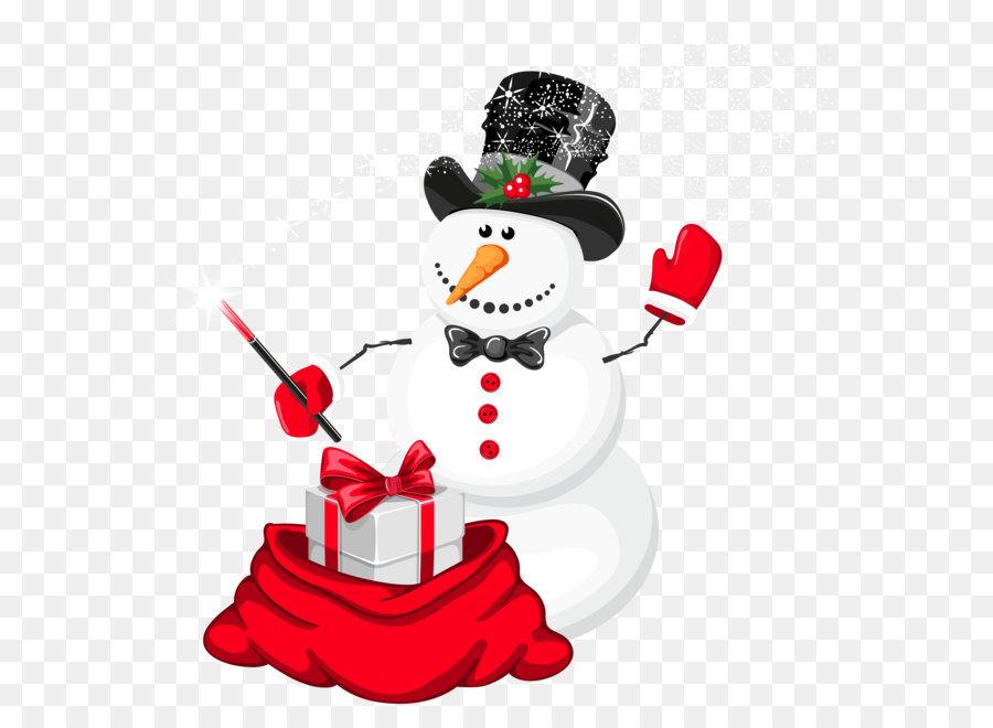 Снеговик с подарком картинки