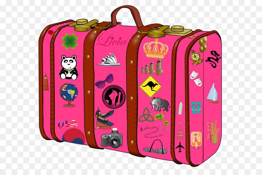 картинка веселый чемодан нежно-розового цвета теперь