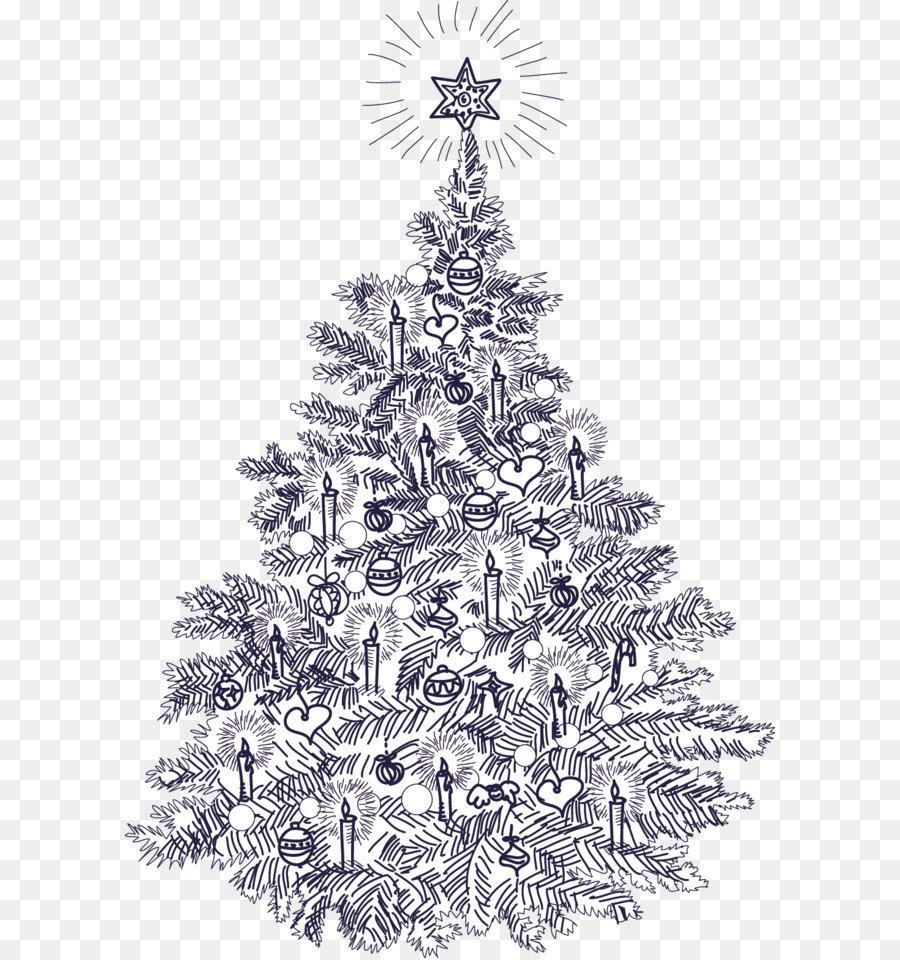 картинка елка новогодняя в графике всех его