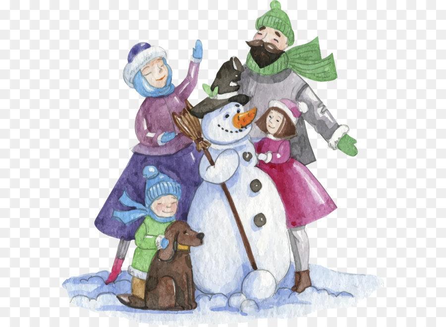 Картинки с новым годом семья рисунок