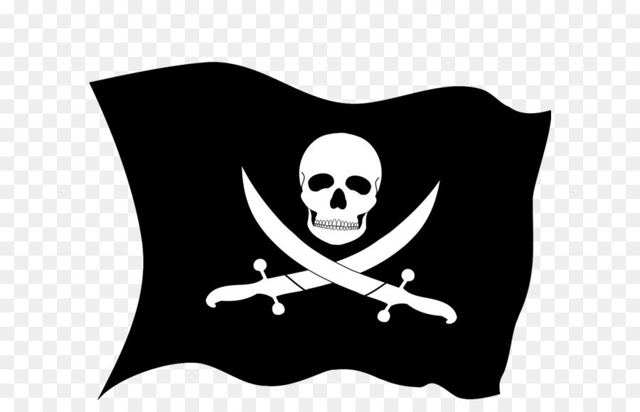 Пират с флагом картинка