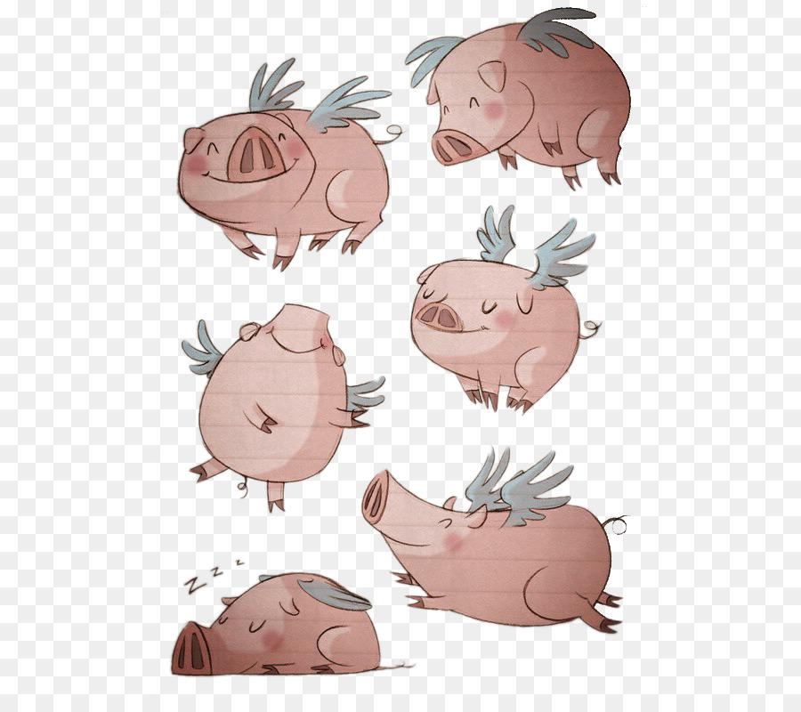 Свинья веселый рисунок, премьера