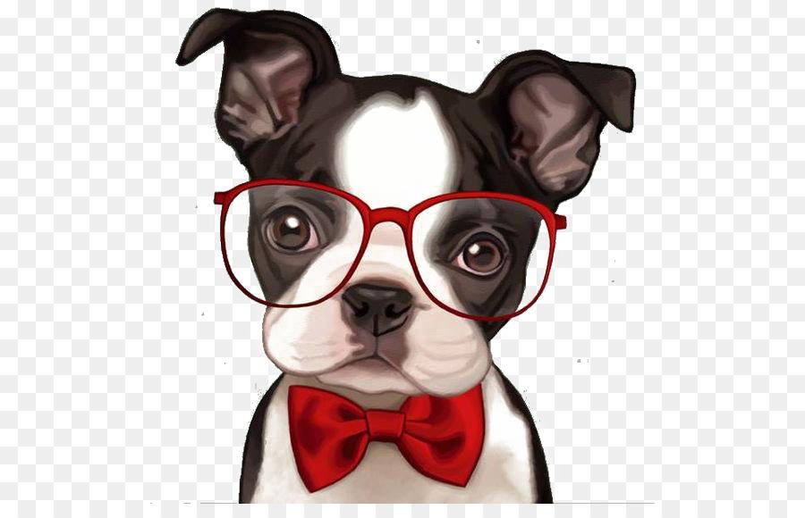Фото щенка в очках рисунок