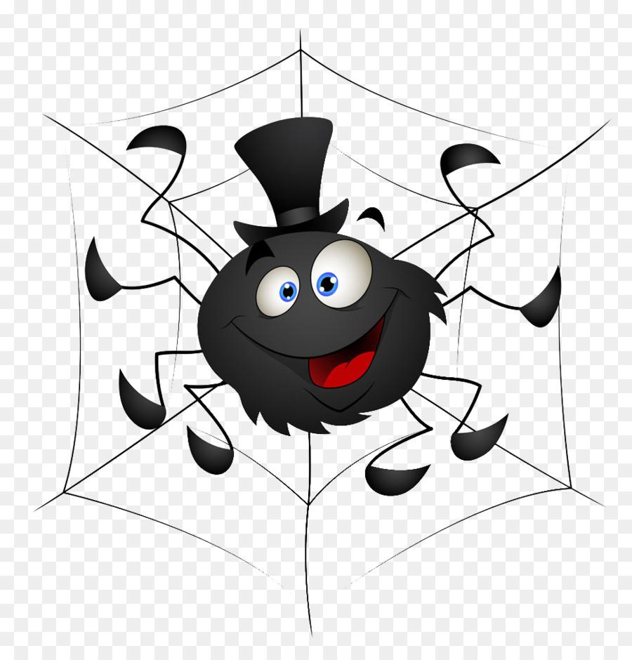 Рисунок смешного паука, поздравления днем