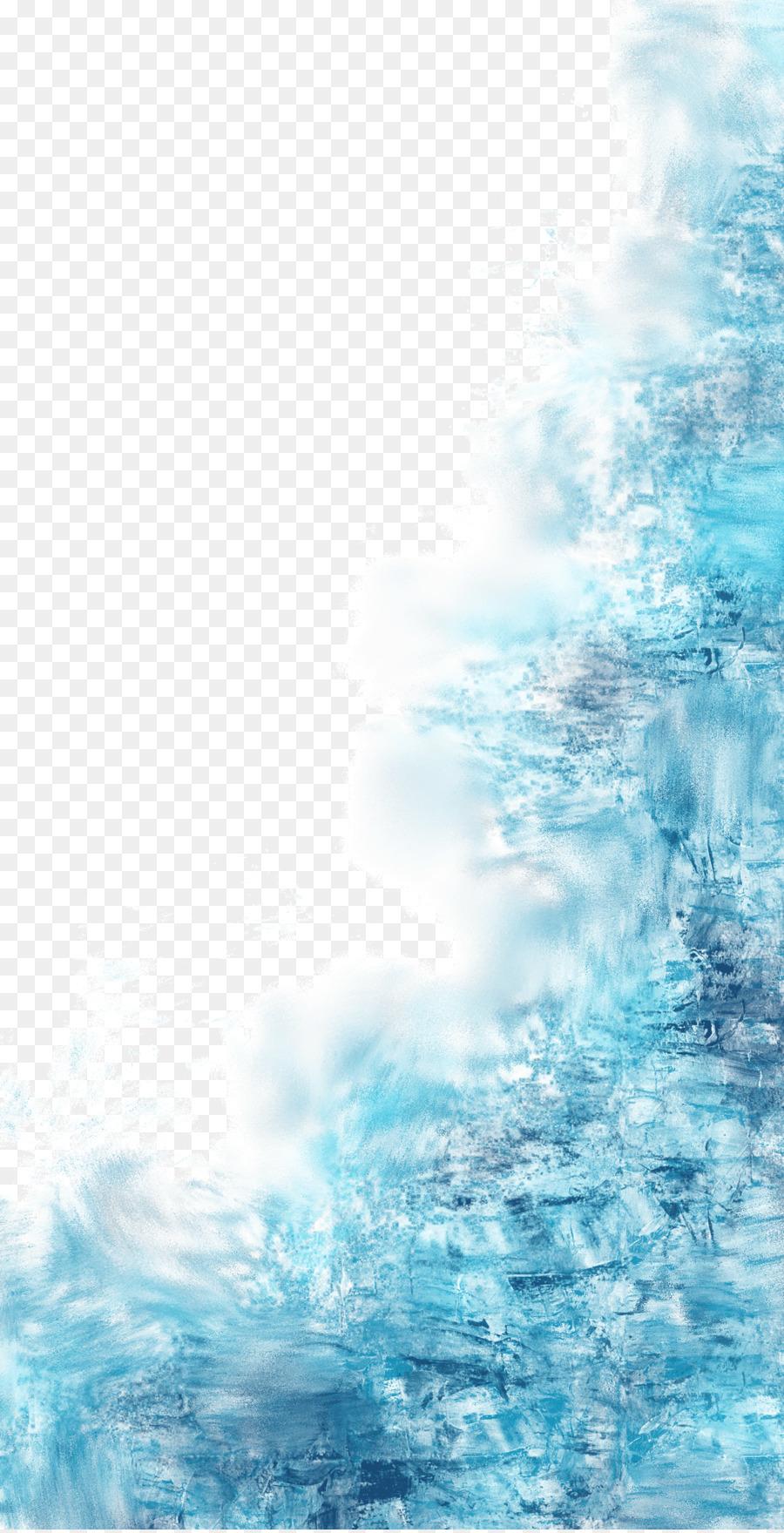 синий,