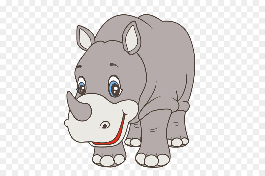 Картинка носорог для детей на прозрачном фоне