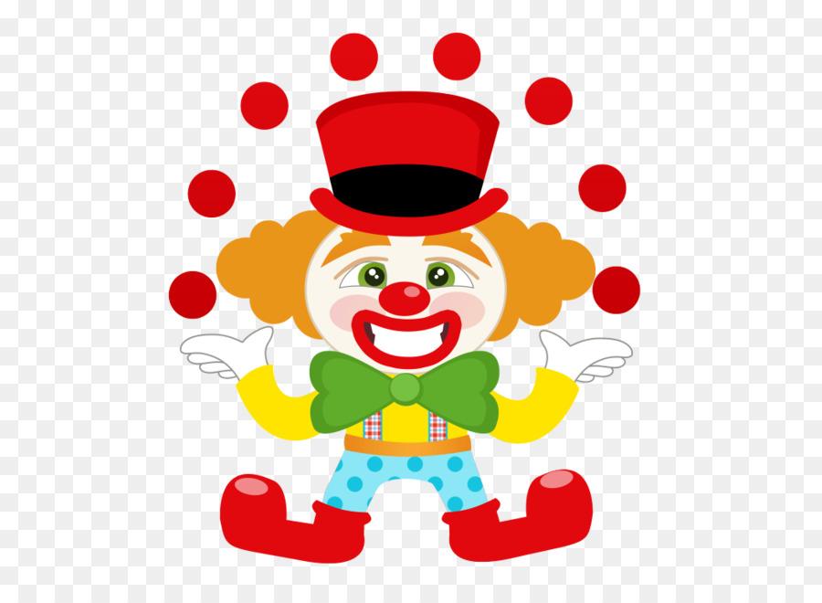 Клоун на открытке, поздравление открытке