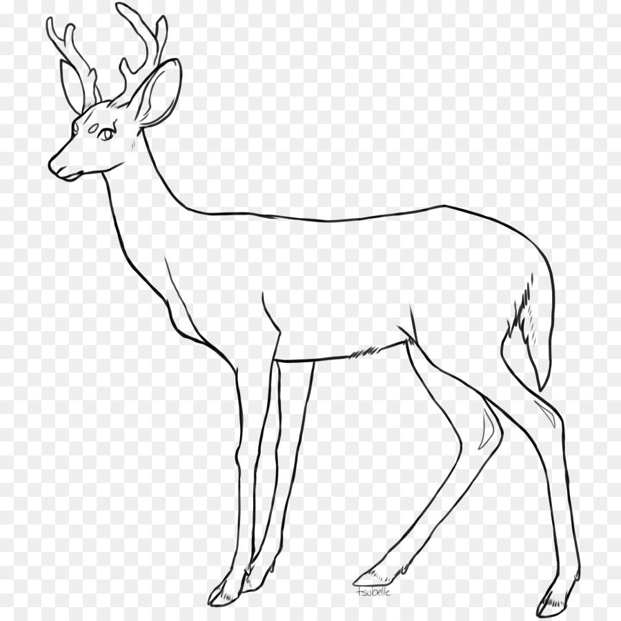 Картинка раскраска оленя с рогами