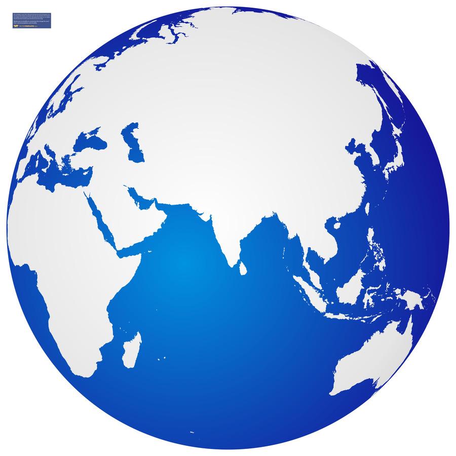 Земной шар россия вектор
