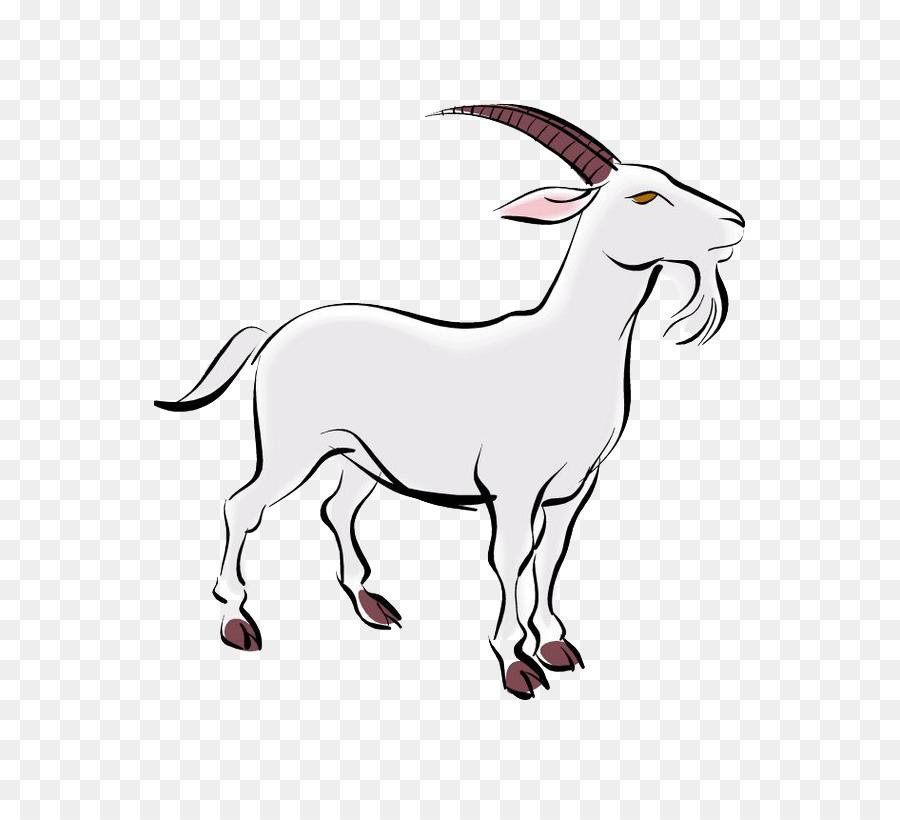 Картинка сидящей козы