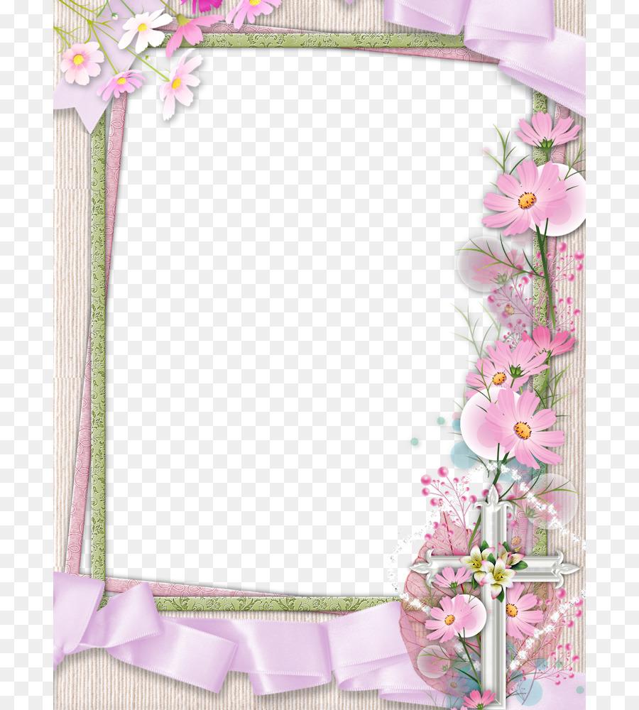 Нежная рамка для открытки с днем рождения, днем весны