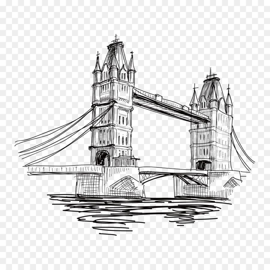 это достопримечательности лондона картинки черно белые для