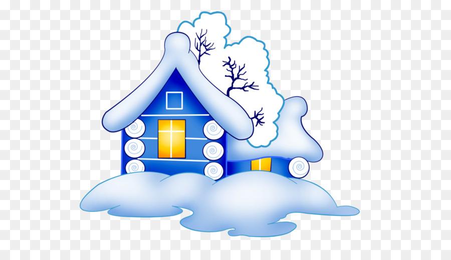 Домики в снегу картинки нарисованные