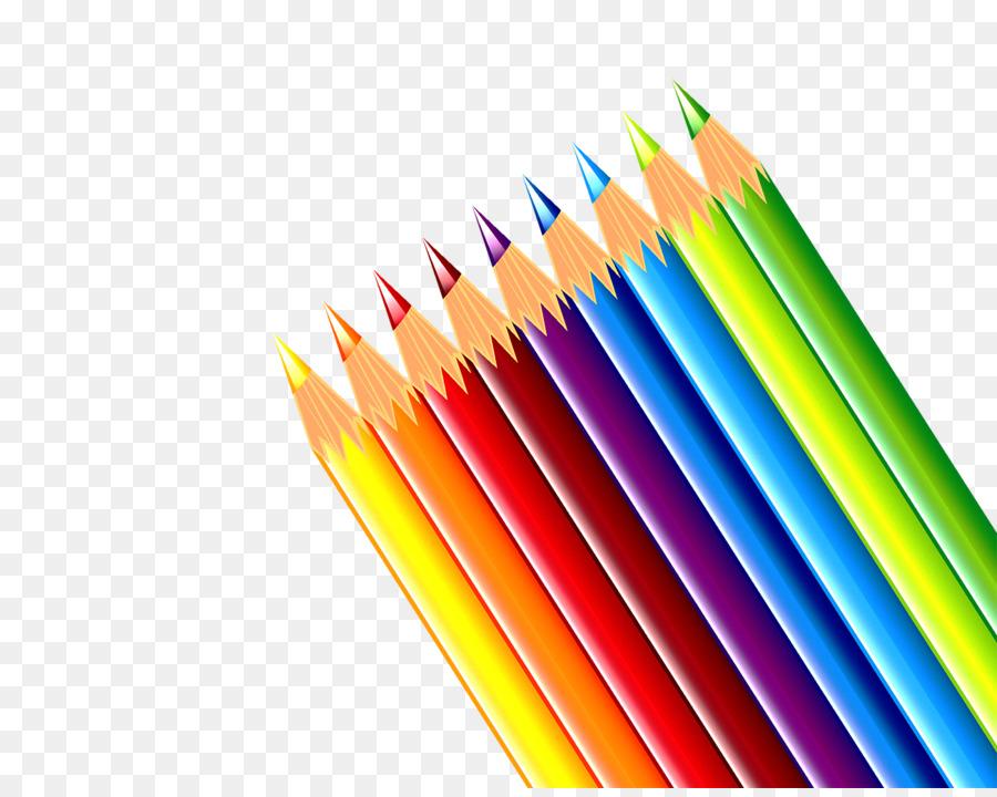 цветные карандаши рисунок на прозрачном фоне