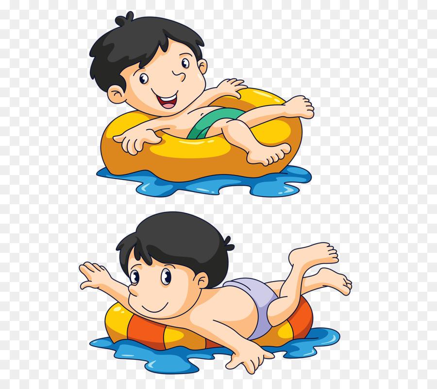 Картинки рисованные дети купаются