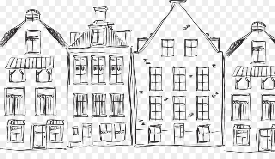 тоже картинки рисунки дома черно белые хай