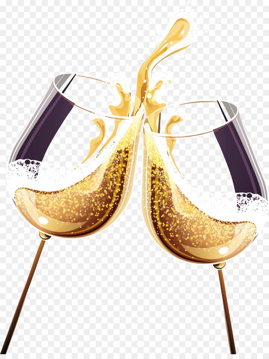 Бокалы с шампанским картинки на прозрачном фоне