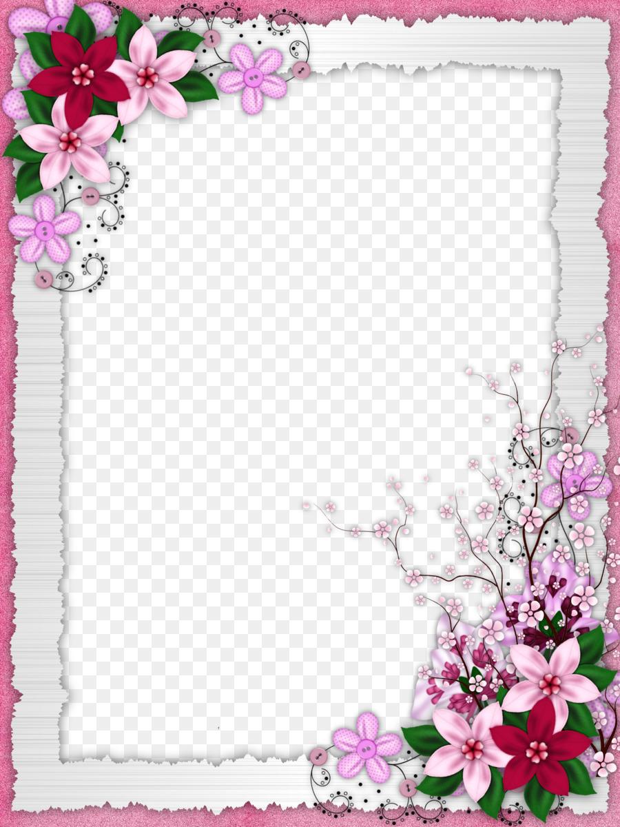 Рамка на открытку с цветочками