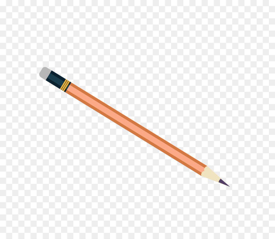 картинка оранжевого карандаша одна