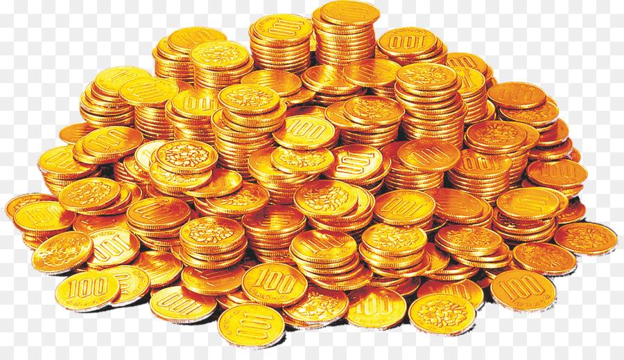 Горсть золотых монет картинки