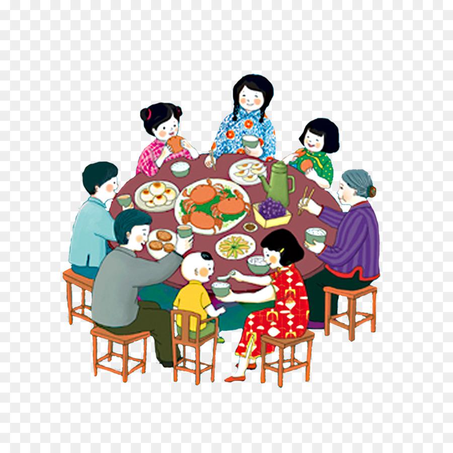 Семейный ужин картинки нарисованные, юбиллей