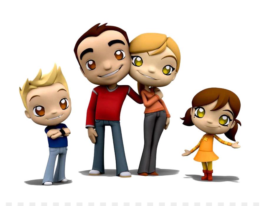 Анимационные картинки семья