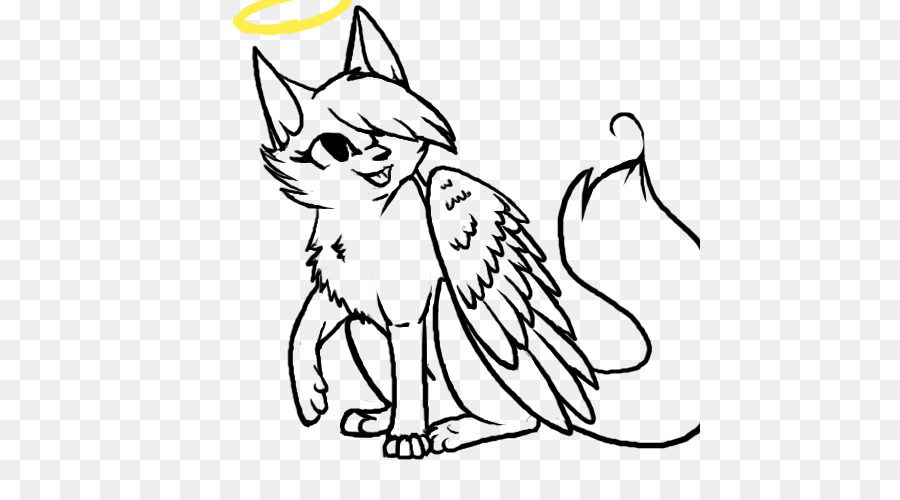 Картинки раскраски котенок с крыльями ангела
