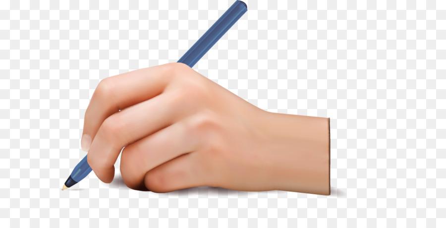 Картинка рука с ручкой для детей