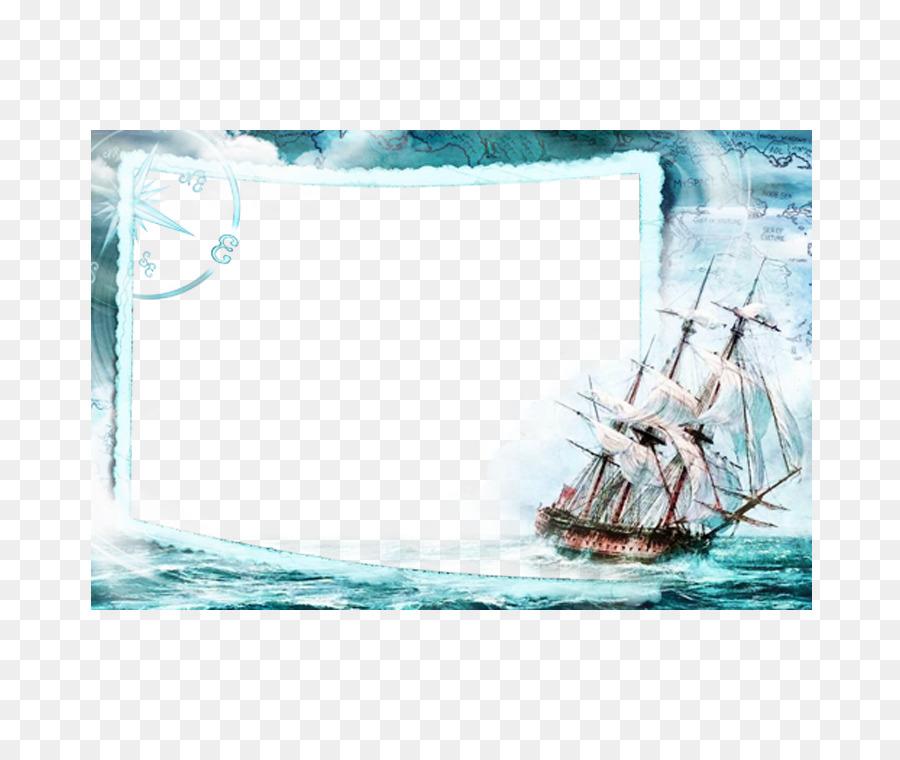 Поздравительная открытка, рамка для открытки морская тема