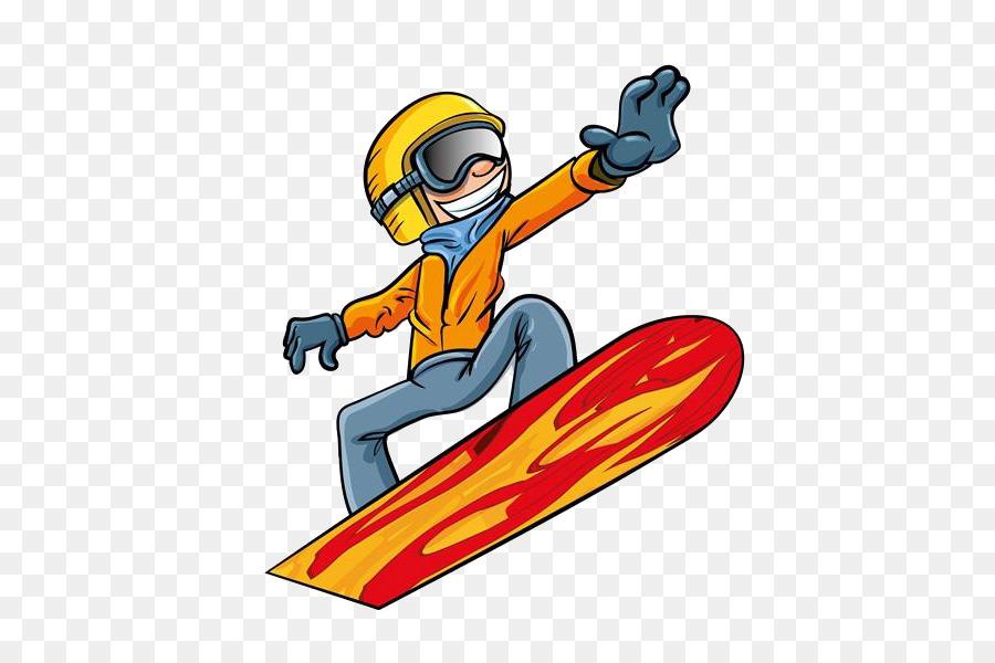 Картинка сноубордист для детей