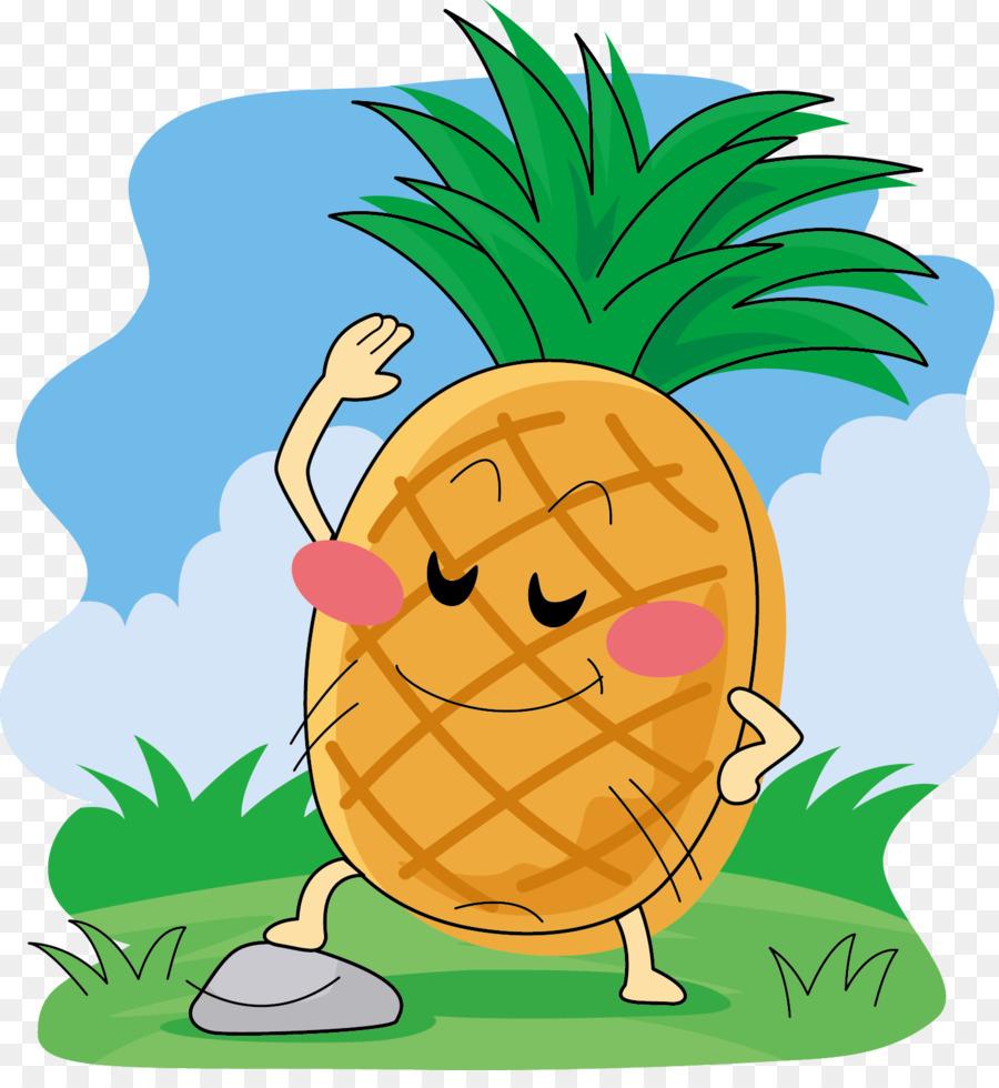 Внуком, картинка веселого ананаса