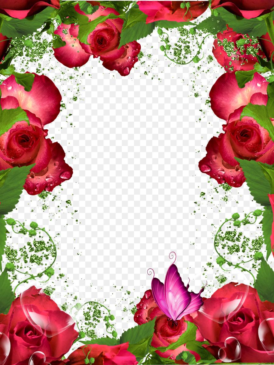 Рамка картинка с розами