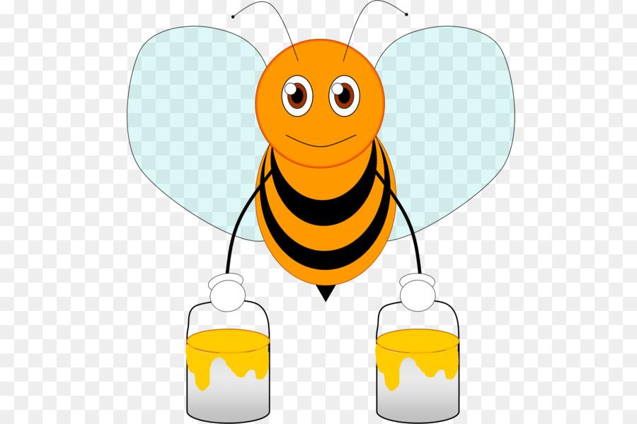 Пчела с ведрами картинка