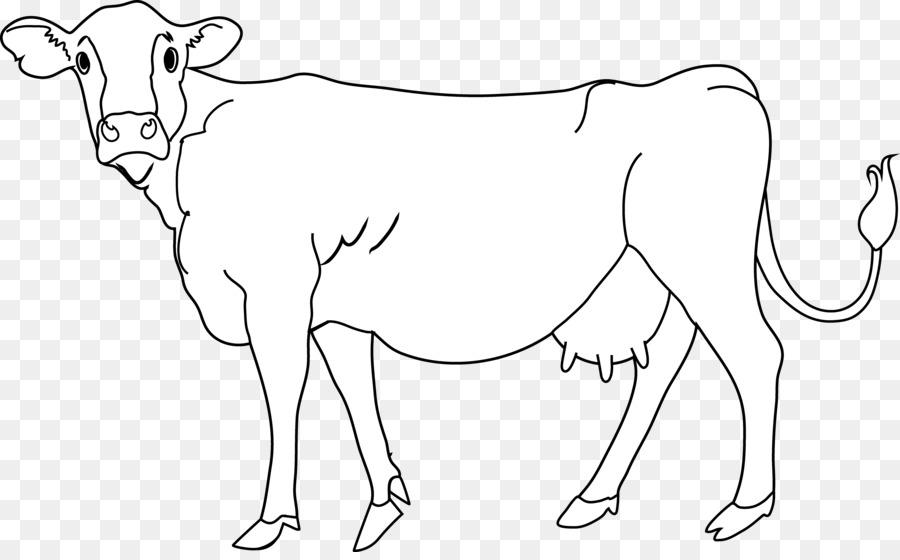 Корова картинки черно-белые