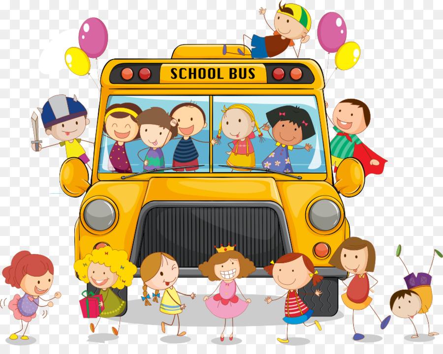 Автобус с детьми детская картинка