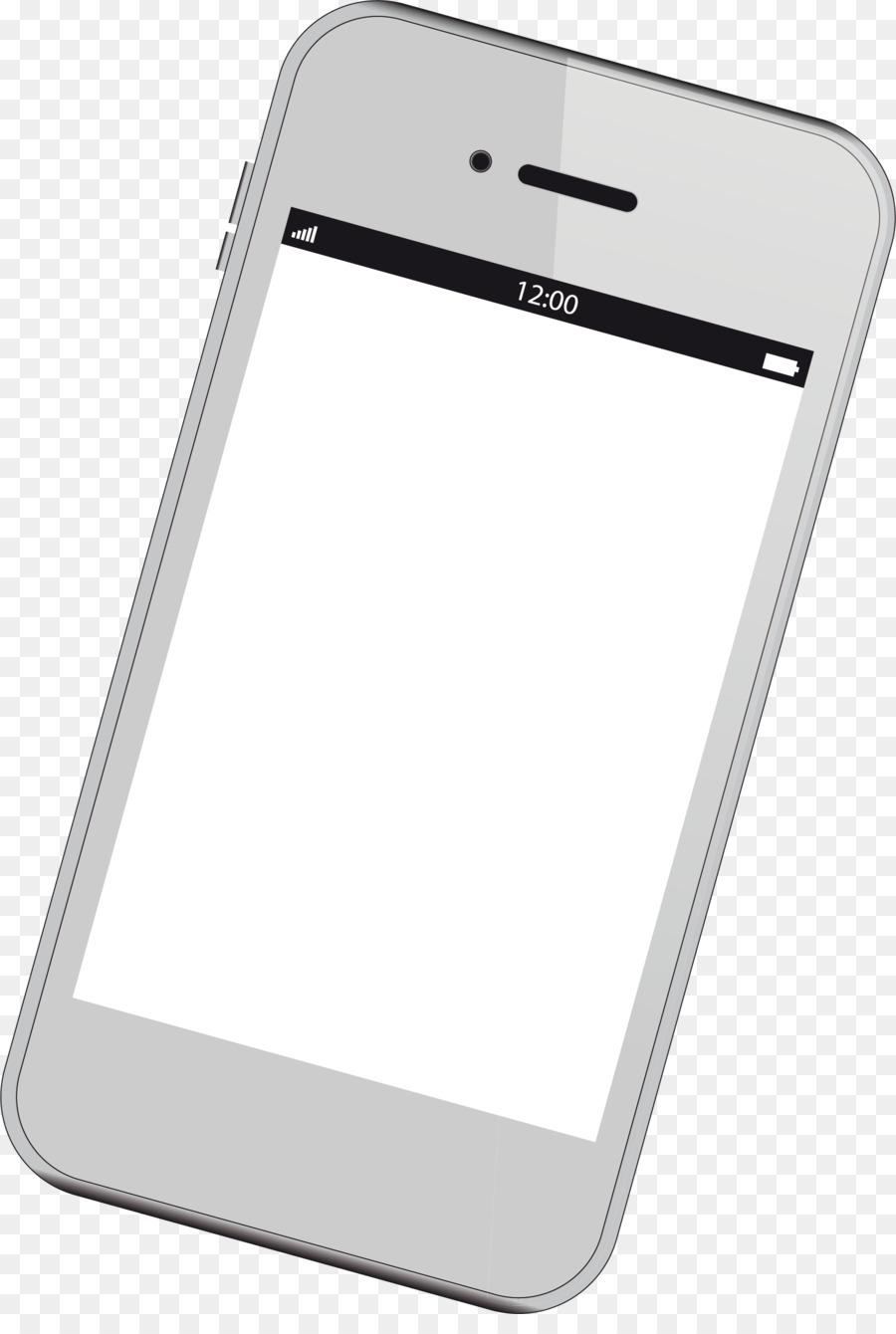 Картинка смартфона с белым экраном