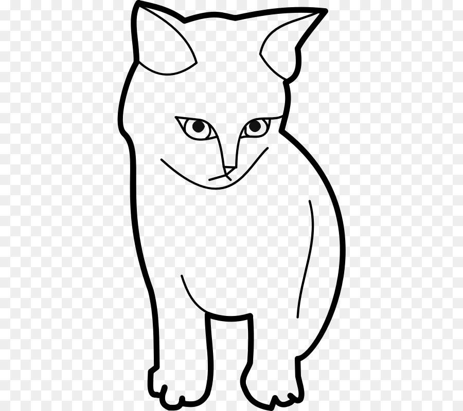 Картинки котов с черным контуром