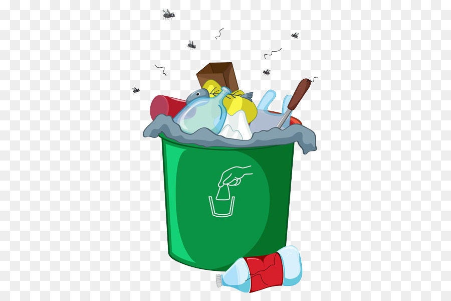 Мусорное ведро с мусором картинка
