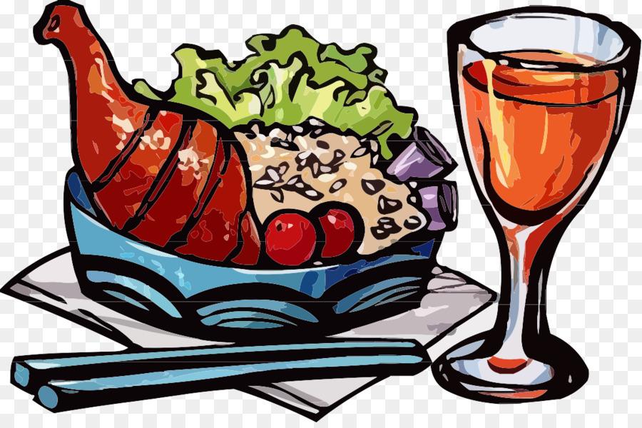 рисунки ресторанная еда