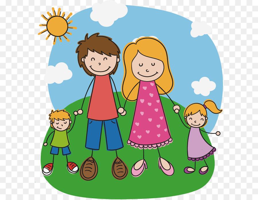 Картинка счастливой семьи мультяшная