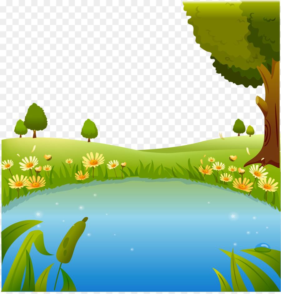 Картинки для детей озеро дерево