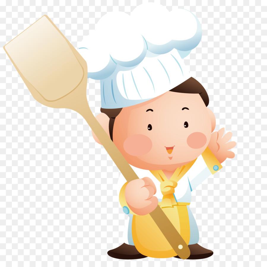 Картинка повара с поварешкой