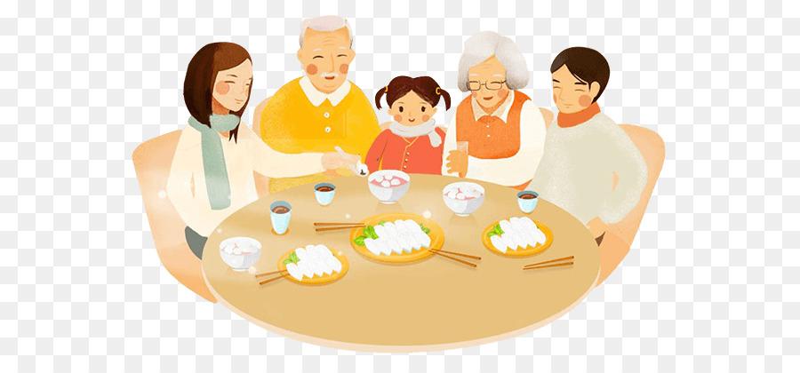 Для, семейный ужин картинки нарисованные