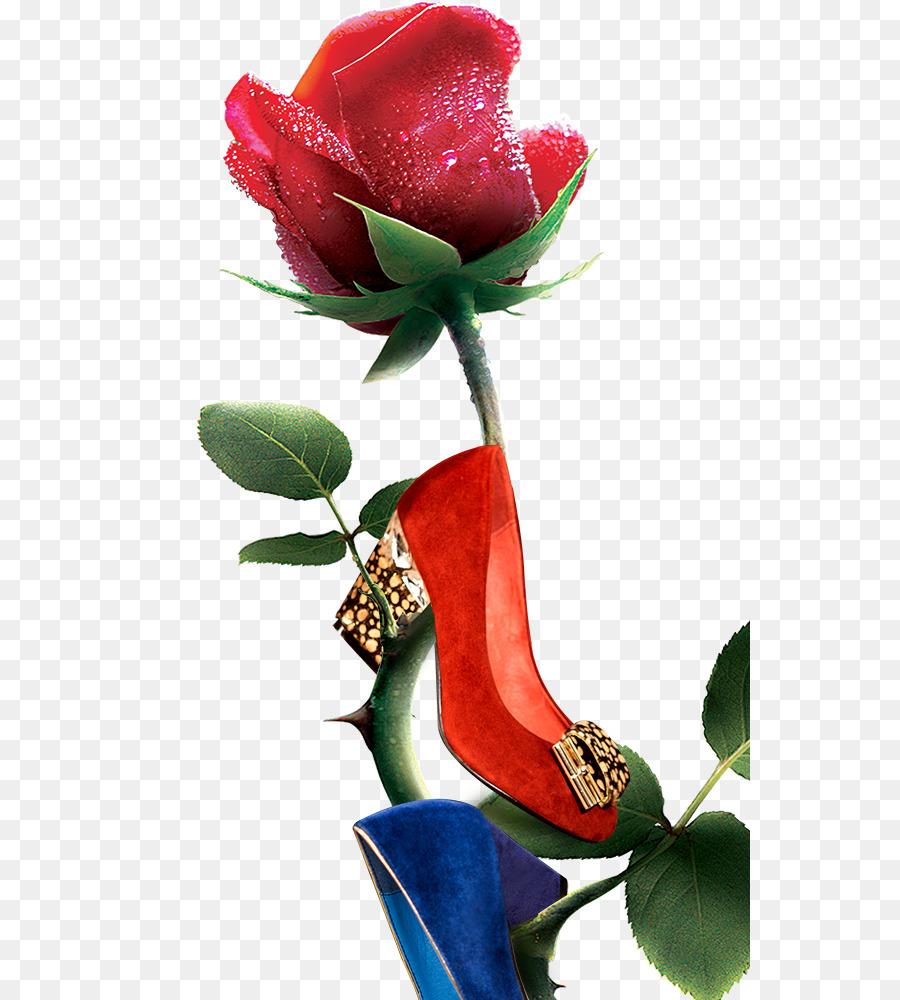анимация картинки туфелька с розами девушки, которая