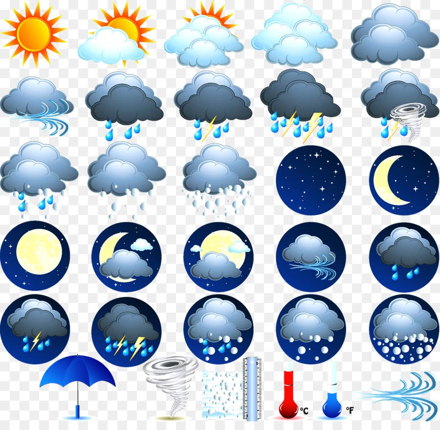перебросали картинки с видами погоды для