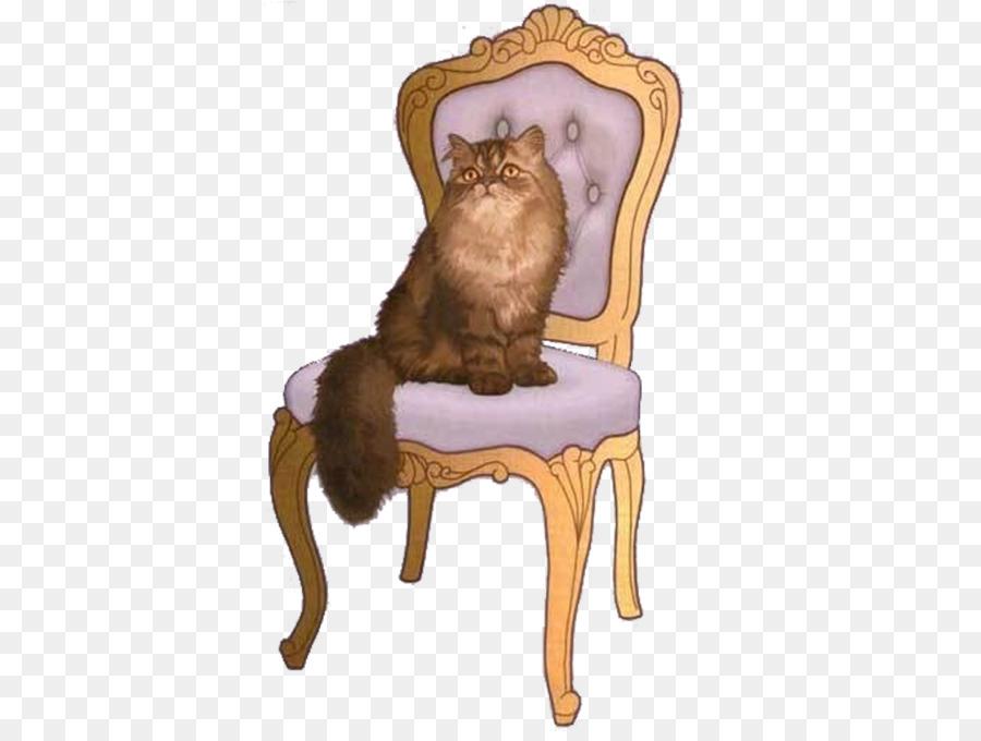 Картинка кошка сидит на стуле