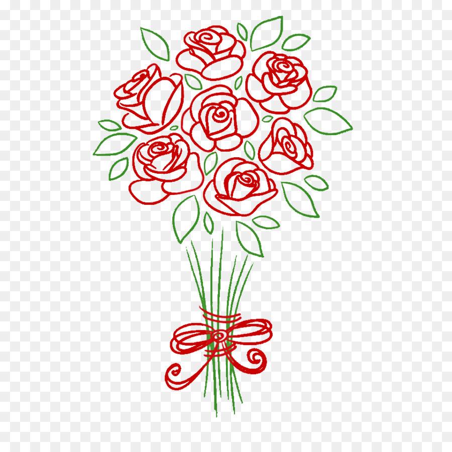 букет цветов картинки как нарисовать