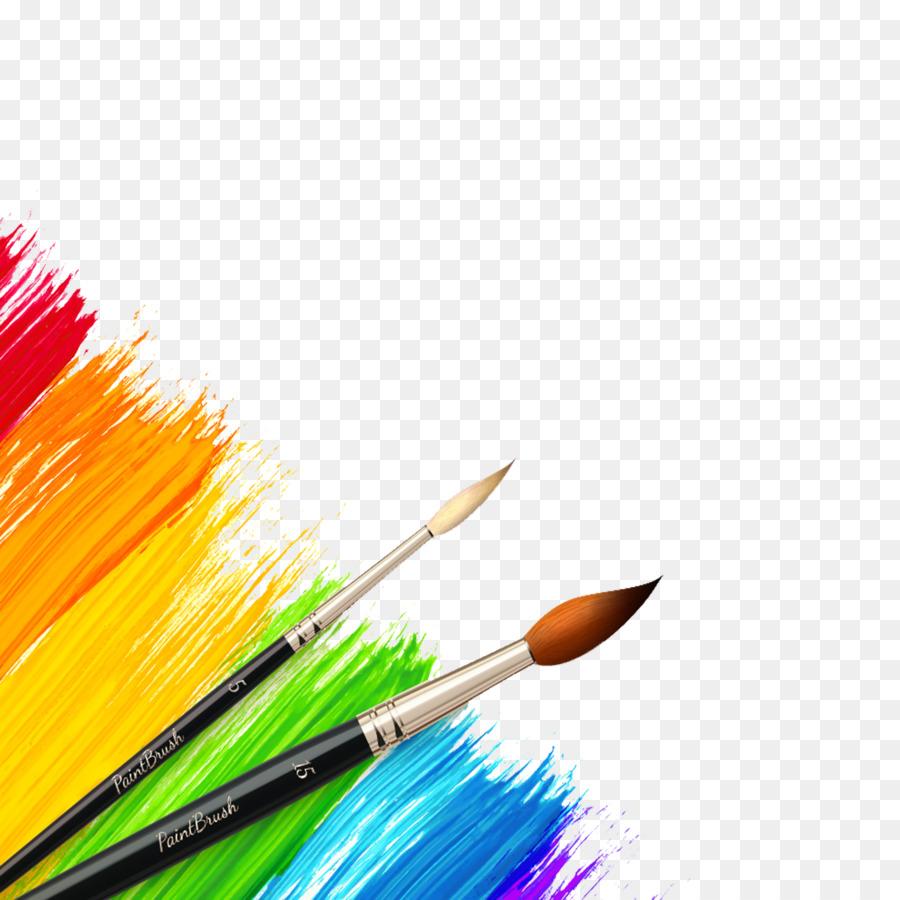 Картинки кисточки и краски на прозрачном фоне