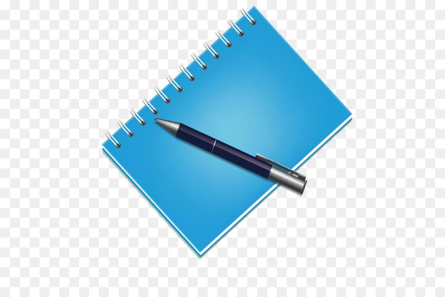 Картинка блокнота с ручкой на прозрачном фоне
