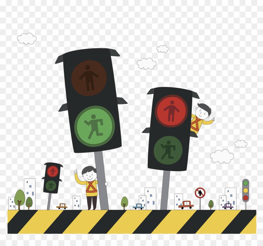 Поздравления днем, рисунки смешного светофора